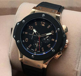 Wholesale Automatic Big Date - 2017 High Quality Men Watch All Subdials Work Mechanical Automatic Wristwatches Luxury Watches Top Brand Rubber Strap Big Bang Gift for mens