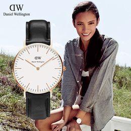 Wholesale Thin Gold Ladies Watch - 36mm Dial Daniel Fashion Brand High Quality Women's Watches For Woman Luxury DW Quartz WristWatch Lady Casual Dress Wellington Thin Watch