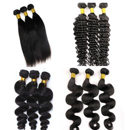 Wholesale Brazillian Natural Hair - Mink Brazillian Body Wave Bundles Virgin Human Hair Weaves Wefts 8-34inch Unprocessed Peruvian Malaysian Indian Bulk Human Hair Extensions