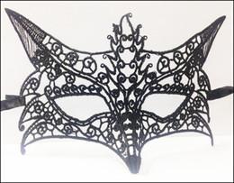 Wholesale Children Fox Costumes - Black mask Lace sexy masque dentelle Fancy Dress Costume Sexy Lady Lace FOX Mask High Quality 100pcs Lot