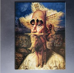 Wholesale Nude Figure Art - visions of quixote by Mexico artist Octavio Ocampo art print on canvas for wall picture decoration oil painting in living room