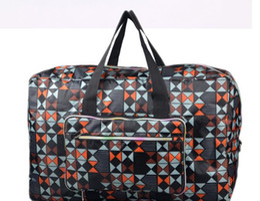 Wholesale Eva Luggage - 2017 Large Capacity Kip Style Women Travel Bags Women Luggage Travel Bags Travel Duffle Bag Folding Waterproof Sports Bag