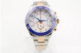 Azul de cerámica rosa online-Zafiro de lujo de los hombres de cristal azul cerámica bisel Rose Golden Perpetual reloj de tono de movimiento automático Sport reloj de pulsera para hombre relojes