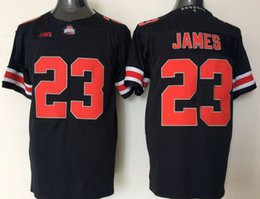 Wholesale Blackout Football - Ohio State Buckeyes Joey Lebron James 23# 97# America College Alumni Football Jersey Black Men Jerseys Blackout Embroidery Logos Stitched