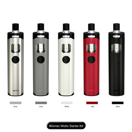 Wholesale Personal Build - 100% Original Wismec Motiv Kit Built In 2200mAh Capacity All in One Style Personal Vaporizer Starter Kit Top Refilling fast shipping