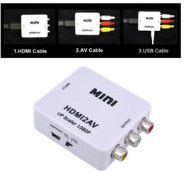Wholesale Vga Converters - HDMI Converter HDMI to AV RCA digital analog converter HDMI TO AV audio video factory outlets HDMI2AV 1080P Free DHL Shipping