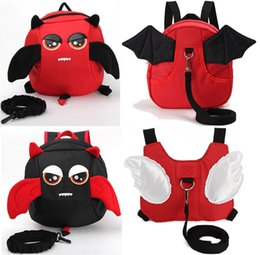 Wholesale Toddler Walking Bag - Angle Rabbit Kid Keeper Safety Harness Angel Wing backpack anti lost backpack School Bag Toddler Walking Bag With Strip