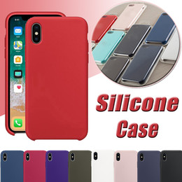 Wholesale Silicone Iphone Solid - Silicone Case Ultra Thin Slim Soft Rubber Candy Color Solid Back Cover Protective Soft Shell For iPhone X 8 Plus 7 6 6S With Retail Package