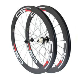 Wholesale Bicycle Aero - CSC U Shape 23mm,25mm Width 50mm Clincher Tubular Tubelss carbon road bike wheels bicycle wheelset Powerway R13 Hub aero spokes