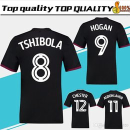 Wholesale villas jersey - 2018 Aston Villa away black Soccer Jersey 17 18 Aston Villa Soccer Shirt men #26 TERRY #9 HOGAN #11 AGBONLAHOR Football uniform Sales