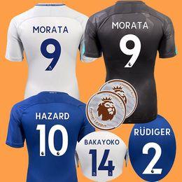 Wholesale Chelsea Footballs - 17 18 chelsea jerseys soccer 2017 2018 MORATA Hazard Diego costa Kante Camiseta BATSHUAYI chelsea football shirt BAKAYOKO RUDIGER WILLIAN
