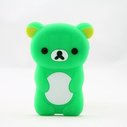 Wholesale Nano Generation - Cartoon 3D Cute Bear Silicone Skin Case Cover for Apple iPod Nano 7th Generation 7G (Green)