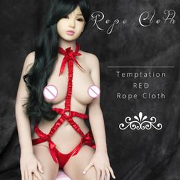 Tentación cuerda elástica roja erótica Tease Fetish Bondage producto adulto juguetes sexuales para mujeres desde fabricantes