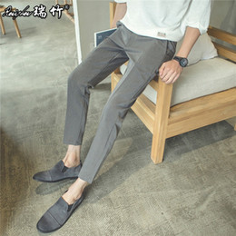 Wholesale Men Wool Dress Suits - Wholesale-2016 summer mens pants suit wool and silk thick dress pants for men fashion classical trousers work pants coat