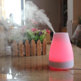 Wholesale Cb Top - Top Quality Ultrasonic Air Aroma Humidifier With Changing 7 Color LED Lights Electric Aromatherapy Essential Oil Aroma Diffuser 120ML