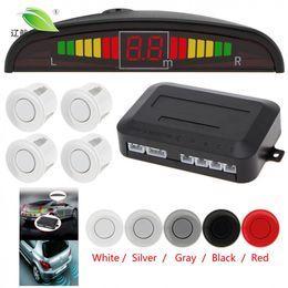 Wholesale Ultrasonic Detectors - Light heart Car Auto Parktronic LED Parking Sensor Ultrasonic Reverse Backup Sensors Radar Detector Multi-color Optional