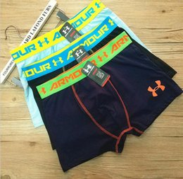 Wholesale Mans Panties - Men Boxers Fashion Mens Cotton Underpants Famous Brand Underwears For Teenagers Casual Panties Factory Free DHL 597