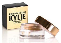 Wholesale Gold Eyeshadow Brown Eyes - Kylie Jenner makeup Birthday Edition Creme Shadow Copper Rose Gold Black Brown eye brown makeup eyeshadow hot sale