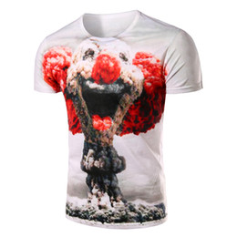 Wholesale Cool Stamps - Free shipping cool tops The 2016 Summer Youth Men's T-shirt short sleeve Tops slim fit Korean fashion personality stamp tops Tee 112100