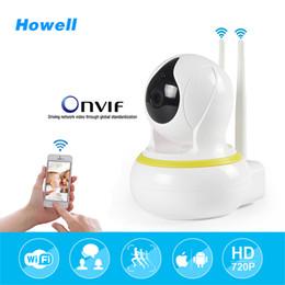 Wholesale Ip Camera Ir Cut - Howell Surveillance Camera HD 720P Home Security Camera 10m Night Vision IR-Cut 3.6mm IP Wifi Camara Mini CCTV 64G Audio Camera