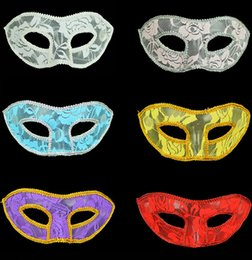 Wholesale Translucent Masquerade Mask - New Translucent Lace Venice Women Mask Halloween Masquerade Masks Festive & Party Supplies Party Masks 7 color free shipping