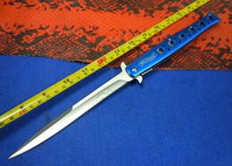 Wholesale Assisted Blade - 13'' BLUE Walther Aluminium Handle Big Pocket Folding Assisted Knife BA01