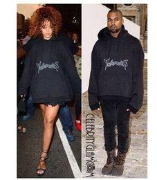 Wholesale Batwing Sleeve Hoodie - streetwear hiphop clothes hoodies men brand clothing tracksuit rihanna black box logo vetements hoodie oversized kanye