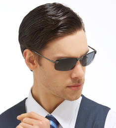 Wholesale Dark Sunglasses Driving - Polaroid Men Polarized Driving Sunglasses Dark Men Glasses Safe Driving Glasses Spectacles for driving 10PCS Lot Drop Shipping