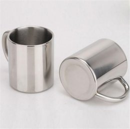 Wholesale Health Cup - Stainless Steel Water Mugs Cup Eco Friendly Double Wall Health Drink Milk Coffee Beer Mug Outdoors 220ML 280ML