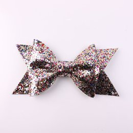 Wholesale Baby Felt Bows - Wholesale- Oversized Large Gold Glitter Fabric Bow Hair Clip For Girls Adult Baby Hair Accessories Glitter Felt Bows Gold Hair Bow