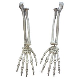Wholesale horror haunted house - Plastic Skeleton Arms Witch Hands Haunted House Escape Horror Props Halloween Decorations