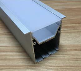 Wholesale Profile Ceiling - free shipping hot selling aluminum led profile for led strips in led bar lights recessed led ceiling lights 2m pcs 5pcs lot