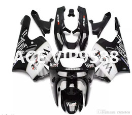 Wholesale Kawasaki Zx9r - 3 gifts Fairing Kit for KAWASAKI Ninja ZX9R 94 97 ZX 9R 1994 1997 Compression mold Fairings set Black White P31