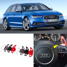 Wholesale Auto Parts Wheels - Auto parts 2pcs Brand New Alloy Add-On Steering Wheel DSG Paddle Shifters Extension For Audi S6