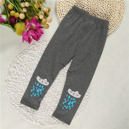 Wholesale Wholesale Childrens Tights Leggings - New Baby Infants Casual Leggings Autumn Fashion Kids Girls Cotton Pants Childrens Girls Printed Tights Trousers 4 Colors