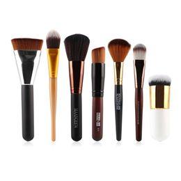 Wholesale Miss Rose Make Up - Miss Rose 7 Pcs Set Powder Foundation Eyeshadow Eyeliner Lip Brush Tools Cosmetic Makeup Brushes V2 Make Up Brush Tools
