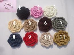 Wholesale Wholesale Flower Pins - men women Pins, Brooches Neckties pin Bow tie Big wool flower DIY manual wool corsage Sweater badge Accessories married