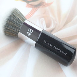 Wholesale Thick Makeup Brush - 2017 Hot Sale Professional Bright Powder Brush 48 Soft Dyeing Round Thick Makeup Brushes Synthetic Hair Kabuki Brush