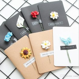 Wholesale Hand Making Paper Flowers - Hand Made Christmas Greeting Cards Dried Flower DIY Vintage Kraft Paper Thank You Cards Anniversary Card Simulation Flower Card 650Pcs