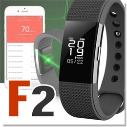 Wholesale Fitness Wrist Bands - F2 Heart Rate Monitor Smart Wristband bracelet Waterproof blood pressure Tracker Smart Band for Android iOS For Fitbit Charge 2 Style