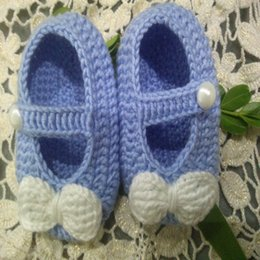 Wholesale Hand Knitted Baby Shoes - 2016 Crochet newborn baby girl shoes baby moccasins hand knitted baby shoes girl knitted baby booties