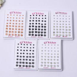 Wholesale Earrings Supplies - 2017 Korean fashion luminous earrings, creative alloy jewelry square earrings, anti-allergic earrings Supply wholesale free shipping