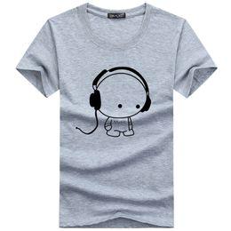 Высокое качество футболки мода гарнитура мультфильм печатных повседневная футболка мужчины Марка футболка хлопок футболка плюс размер 5XL cheap top headset brands от Поставщики бренды верхней гарнитуры