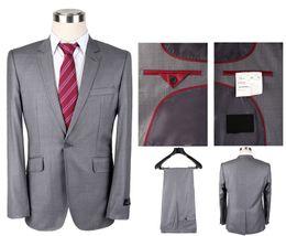 Wholesale Men S Blazers Slim Fit - 2016 Famous brand Wool Herringbone Retro gentleman style Men suits tailor suit Blazer suits Slim Fit Groom Tuxedos jacket Vest trousers
