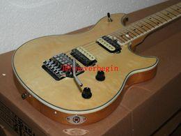 Guitarra electrica top natural online-Guitarra al por mayor de China Mejor OEM Guitarra Más nueva 6 cuerdas Color natural Guitarra eléctrica Top instrumentos musicales CALIENTE