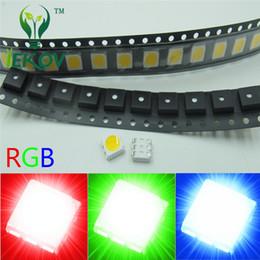 rgb perlen Rabatt 5000pcs PLCC-6 SMD-Chip 5050 RGB LED rot grün blau 3-Chips emittierende Dioden SMT Lampe Perlen für Automobil / Fahrrad / Lampen / Spielzeug DIY