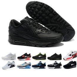 Wholesale Casual Tennis Brands - Brand New Hight Quality Mens Womens Classic 90 casual Shoes Black White Mens Womens Trainers Sneakers Man Walking Air Sports tennis Shoes