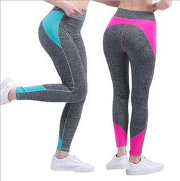 Wholesale Ladies Capri Trousers - new design Women ladies Yoga Running Outdoor Sport Elastic Exercise High Waist running Leggings Gym Fitness Slim Capri Pants Trousers