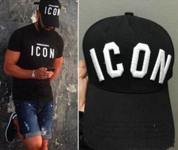 Wholesale Icon Logo - 2016 New Styles Top Ball Cap Baseball Adjustable Sunless Caps Snapback Black Hat Men Women ICON Embroidery Logo Hat Free Shipping
