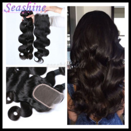 Wholesale Brazilian Lace Full Head Closure - Brazilian Virgin Hair Body Wave Hair Bundles With Lace Closure Top Quality Human Hair Weaves 3pcs And 1pcs Closure hair For A Full Head